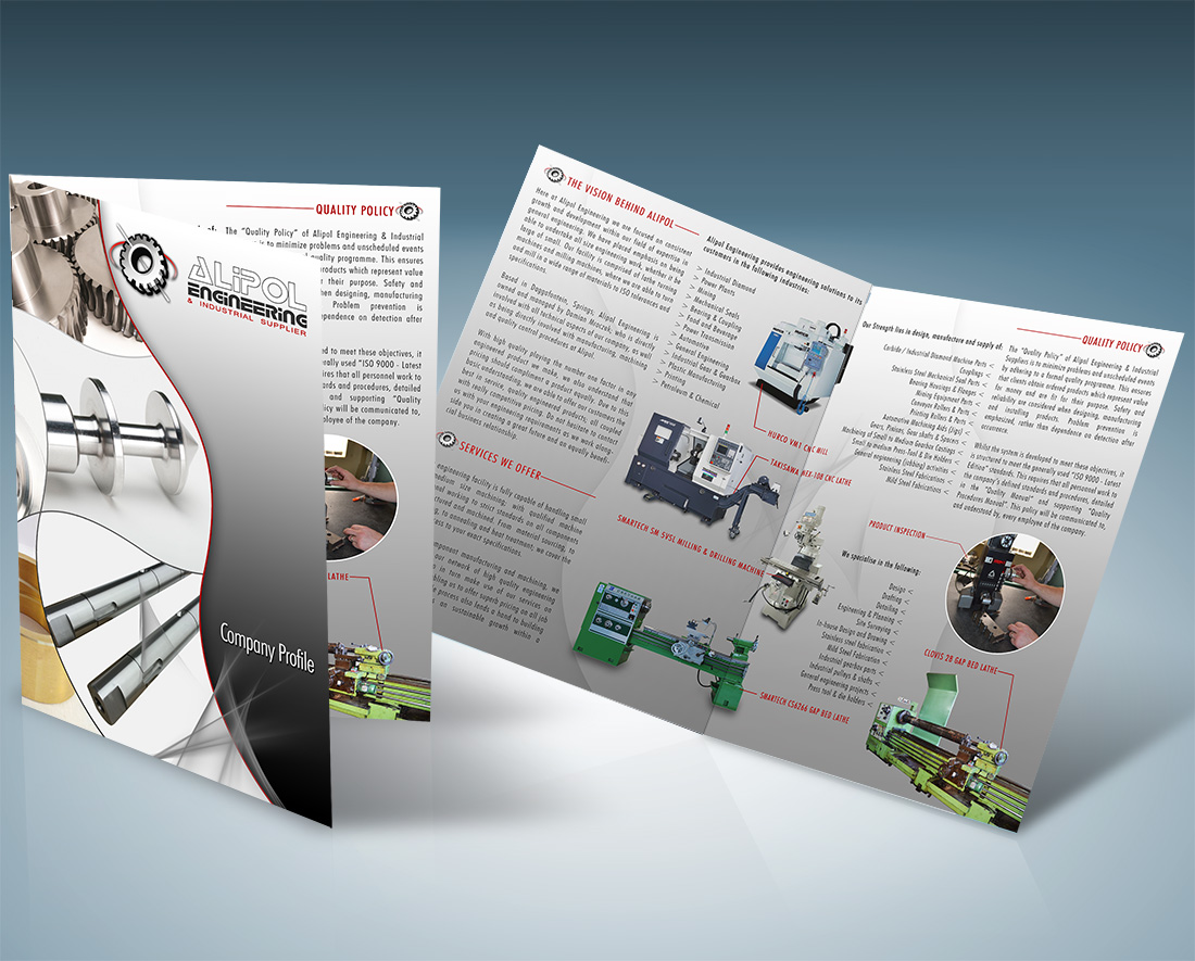 alipol engineering company portfolio brochure design printing
